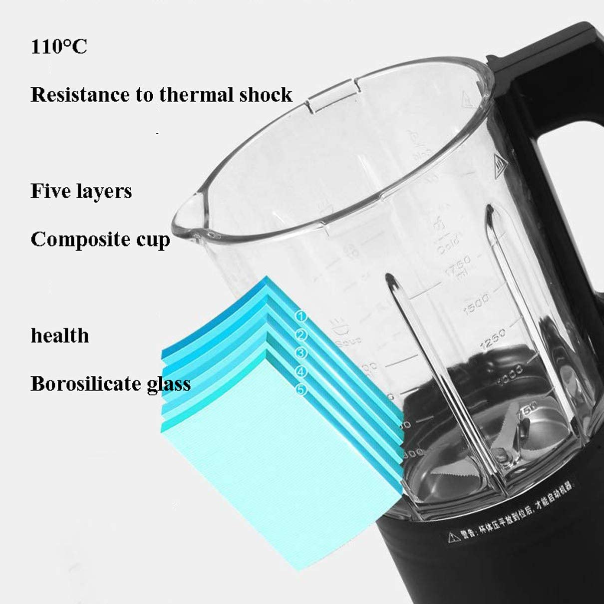 XY-M Blender Portable,pour Milkshake, Boissons Aux Fruits Et Légumes, Glace, Broyage à Chaud Et à Froid Et Cuisson à La Vapeur, Couteau Dentelé en Acier Inoxydable à 8 Lames Red