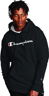 Champion Powerblend Sudadera con Capucha de Forro Polar, Logotipo de Script Camisa para Hombre