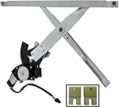 Drivers Front Power Window Regulator with Motor Assembly and 2 Sash Connector Clips Replacement for Chevrolet Pontiac 15218046
