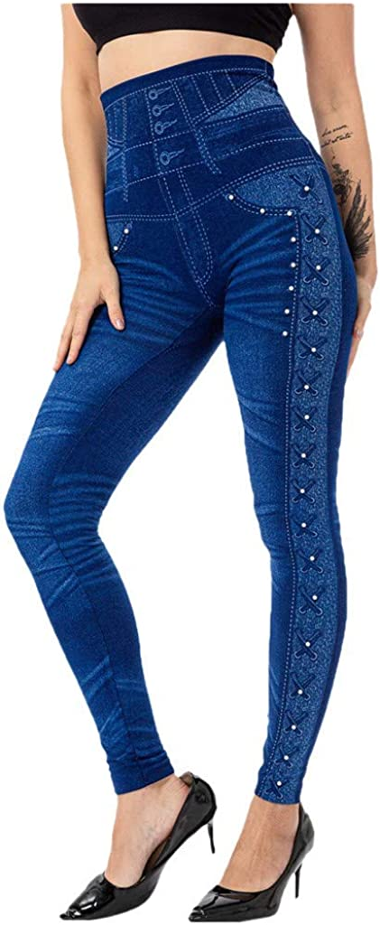 Alaythm Women's High Waisted Pattern Sales for sale Max 53% OFF Leggings Full-Length N Yoga