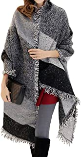 Miss Lulu Warm Ladies Scarf Winter Soft Check Scarves Wraps for Women Wool Shawl Tassel