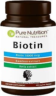 Pure Nutrition Biotin plus 10000 mcg - 90 Tablets