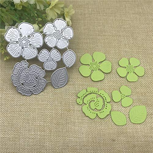 nonbrand Cutting die 3D Flower Rose Metal Cutting Dies Stencils For Diy Scrapbooking/Photo Album Decorative Embossing Diy Paper Cards