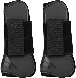 HEEPDD 1 Pair Horse Support Boots, PU Secure Leg Protection Horse Tendon Boots Breathable Wrap Less Sweat and Rubs Equestr...