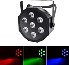Up Lights 7 LEDs RGBW Stage Lights DMX 512 Sound Activated Controlled 7X10W Par Can Uplight for Wedding Party Concert Shows Church Lighting Effect by U`King