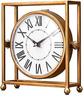 Horloge de bureau Petite Mini Horloge Sourdine Horloge Américaine Chambre Salon Comptoir Horloge Maison Creative Table Bas...
