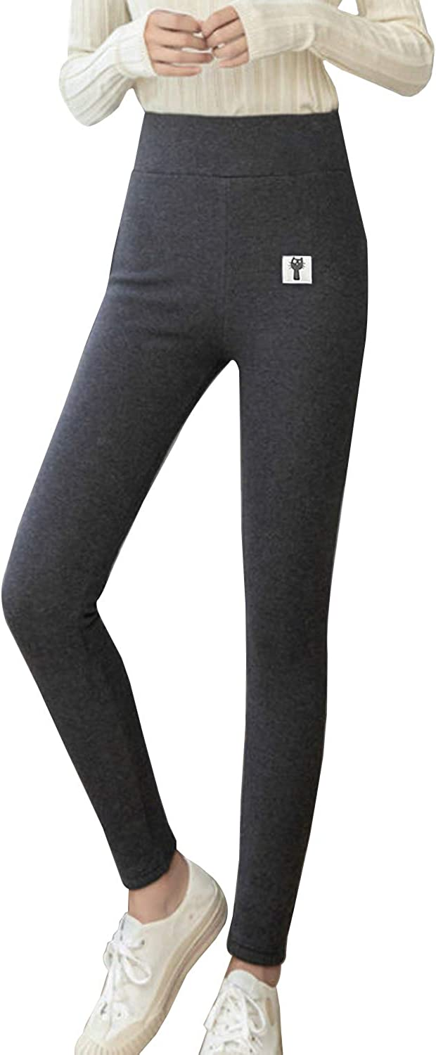 TOPSTHINK Winter Sherpa Fleece Lined Leggings for Women, Super Thick Cashmere Leggings High Waisted Warm Thermal Pants