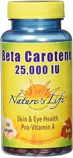 Nature's Life Beta Carotene 25,000 IU | Helps Support Healthy Immune Function & Skin & Eye Health | Antioxidant Dietary Su...