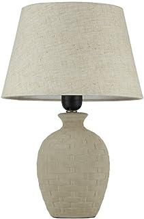 Lampe à Poser Style Classique, Elégant, Armature En Ceramique Couleur Gris,  Abat
