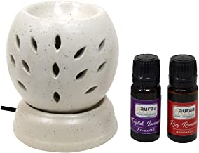Asian Aura Electric Diffuser for Home (10 ml Aroma Oil in Fragrance of Rose & Lavender)