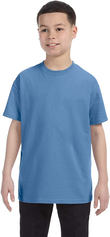 Hanes Youth 61 oz Tagless T-Shirt - CAROLINA BLUE - XL - (Style # 54500 - Original Label)