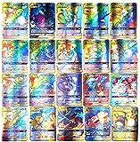 Cartas Pokemon, AUMIDY 100 Piezas Pokemon Cartas, 95GX Cartas + 5Mega Cartas, Pokemon Trading Cards, Tarjetas de Pokemon, Cartas Coleccionables, Trainer Cartas, Juego de Cartas, Mejor Regalo Infantil