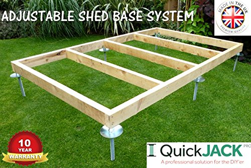 SHED BASE SYSTEM- QUICK JACK FOR SOFT SURFACES- SUITABLE FOR; 12ft x 8ft AND 12ft x 10ft- KIT 4