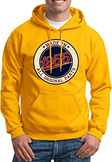 Made in 1955 Aged to Perfection 66th Birthday Gift Mens Hoodie Gift for Him