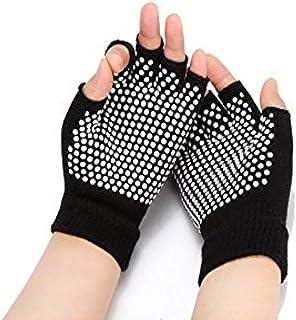 Sonolife - Guantes Tejidos Antiderrapantes para Yoga sin Puntas en los Dedos