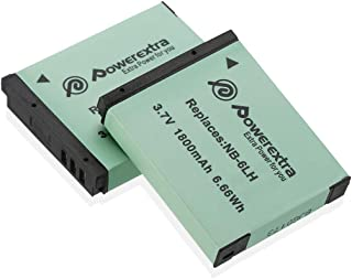 Powerextra Upgraded 2 Pack Replacement Canon NB-6LH / NB-6L Battery Compatible with Canon Powershot S120, SX510 HS, SX280 HS, SX500 is, SX700, D20, S90, D30, ELPH 500, SX270, SX240, SX520 Cameras