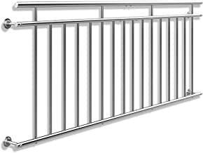 Monzana Franz/ösischer Balkon V2A Edelstahl 90 x 156 cm 12 F/üllst/äbe Balkongel/änder Terrassengel/änder Fensterschutz