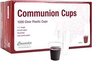 Concordia Supply Communion Cups - Premium Disposable - Box of 1000 - Fits Standard Holy Communion Trays 1-3/8-inch