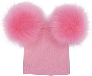 baby girl pink pom pom hat
