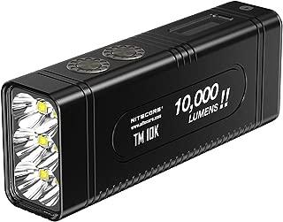 Nitecore TM10K TM10K Tiny Monster 10,000 Lumen Burst Rechargeable Flashlight, Black