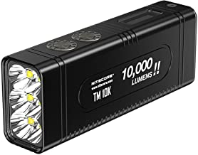 NITECORE TM10K NITECORE TM10K Tiny Monster 10, 000 Lumen Burst Rechargeable Flashlight, Youth-Unisex