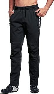 Men's Windproof Bike Cycling Pants Outdoor Fleece-Lined Thermal Athletic Pants