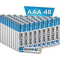 48-Count Nactium Superior Performance AAA Alkaline Pure-Gold-Bottom Batteries
