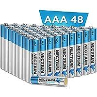 48-Count Nectium AAA Alkaline Pure-Gold-Bottom IoT Batteries