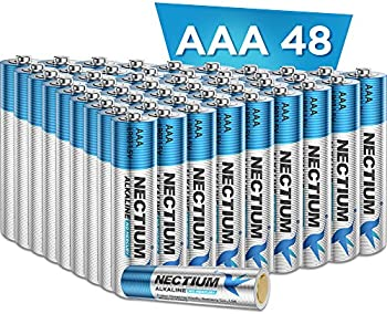 48-Count Nactium AAA Alkaline Pure-Gold-Bottom Batteries