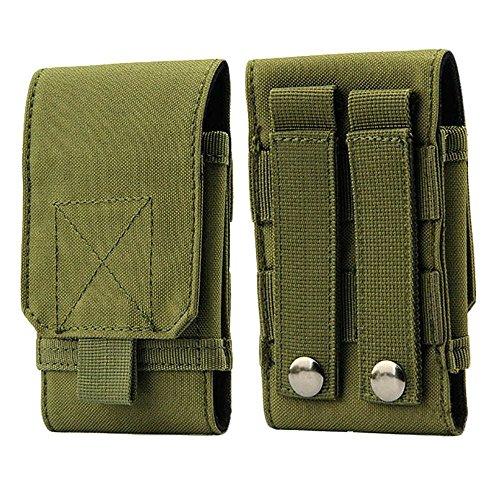 Jinzhicheng exquis multifonctions tactique militaire Bras de téléphone portable Pochette Sac Tour de taille (Vert armée)