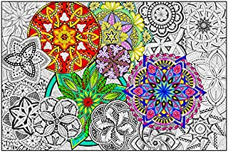 "Mandala Madness - Giant Wall Size Coloring Poster - 32.5"" X 22"" (Great for Kids, Adults, Classrooms, Care Facilities and Families!)"