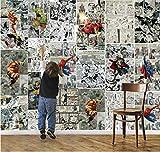 Marvel Comics Papier peint 3D papier peint pour murs Mural Enfants Chambre Room Decor TV décor...