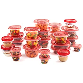 Rubbermaid Take Alongs 50 piece set Storage Containers  Quik Clik Seal-RED