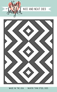 Neat & Tangled Die-Squares & Chevrons Cover Plate