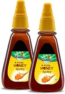 Zandu Pure Honey, 100% Purity, No Added Sugar, Squ-Easy Pack, 400g (Buy 1 Get 1 Free)