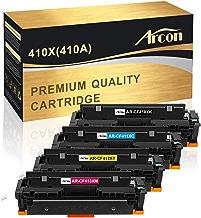 $76 » Arcon Compatible Toner Cartridge Replacement for HP 410A 410X CF410A CF410X M477fdw HP Color Laserjet Pro MFP M477fdw M477fnw M477fdn M452dn M452dw M452nw M452 M477 M377dw CF411X CF412X CF413X Toner