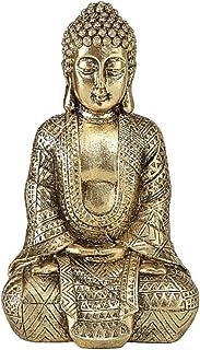 CasaJame Maison Accessoires Décoration Ornement Sculptures Statue Bouddha Assise 20cm