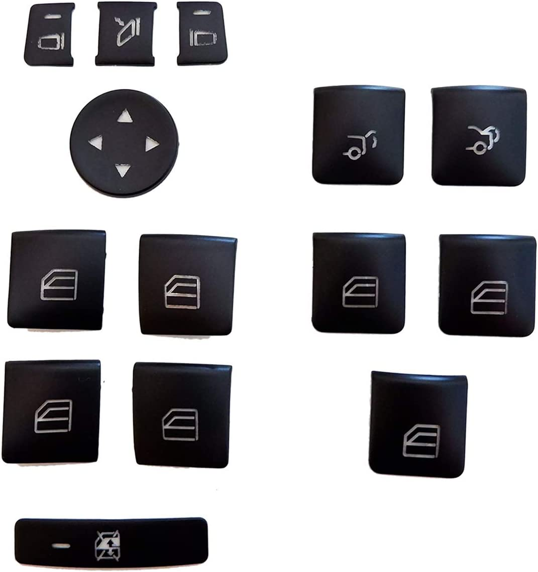 Power Window Black Interior Door Armrest Window Switch Button Trim ...