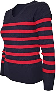 Women's Classic Stretch Cable Knit Pullover Sweater