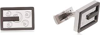 Diamond Moon Stainless Steel Cufflinks for Men, Stainless Steel - 1800541240431