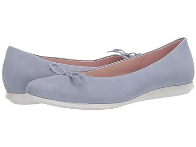 ECCO Touch Ballerina 2.0 (Dusty Blue Cow Nubuck) Women