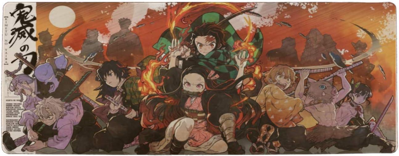Anime Kimetsu No Yaiba Mouse trend rank Pad Comfo in 15.8x35.5 Multipurpose Max 53% OFF