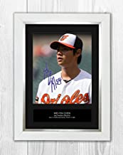 Star Prints UK Wei-Yin Chen - Baltimore Orioles - MLB 1 MT - Signed Autograph Reproduction Photo A4 Print (White Frame)