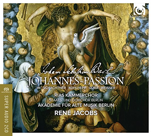 J.S.バッハ : ヨハネ受難曲 BWV245 (Johann Sebastian Bach : Johannes ~ Passion / Rene Jacobs | Akademie fur Alte Musik Berlin | RIAS Kammerchor) [2SACD Hybrid+Bonus DVD] [輸入盤] [日本語帯・解説・歌詞訳付]