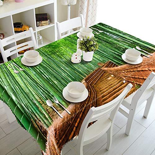 Sinzong Tischdecken Rund Hochzeit 3D Tischdecke Staubdicht Rechteckige Tischdecke Home Decoration-C4-228X396Cm