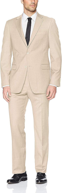 Adam Baker Men's (Groomsmen) Modern Fit Luxury Linen Formal Suit Set - Colors