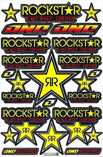 Rockstar Energy Drink Decal Sticker Motorcross Race Logo Racing F1Car Bike