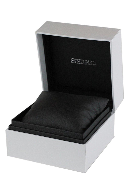 Seiko Men's SRN049-P1 Kinetic Black Leather Watch