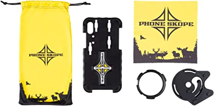 Phone Skope Complete Digiscoping Kit, Compatible with iPhones OR Samsung, Fits Vortex Razor HD Binoculars & Swarovski EL, EL Range, SLC Binoculars, Includes PhoneCase + Eyepiece Adapter + Lens Cloth