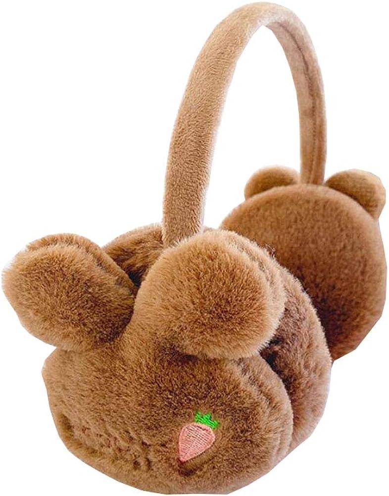 Lovely Kids Warm Winter Earmuffs Winter Ear Warmers Covers Soft Earmuffs for Cold Weather Cute Rabbit, C21